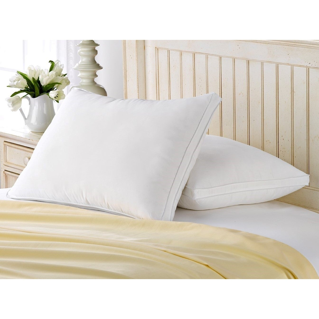 white luxury duck off pillows down feather king size pillow half price pair pipeddoublestitch products