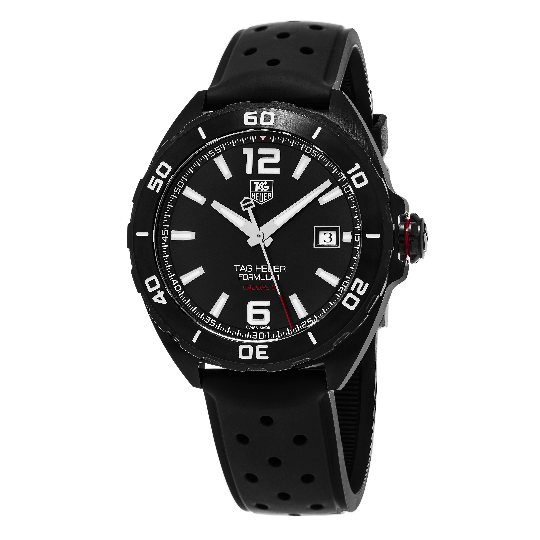 aec0556dd64 Tag Heuer Men s  Formula 1  Black Dial Black Rubber Strap Swiss Automatic  Watch
