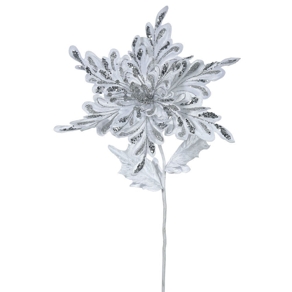Shop 15-inch White Poinsettia with 15-inch Flower (Pack of 3) - Free Shipping Today - Overstock - 12345224