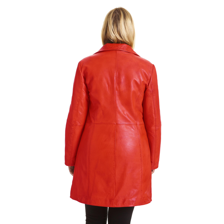03f91dd1e17cc Shop Excelled Women s Plus Size Lambskin Leather Pencil Coat - Free ...