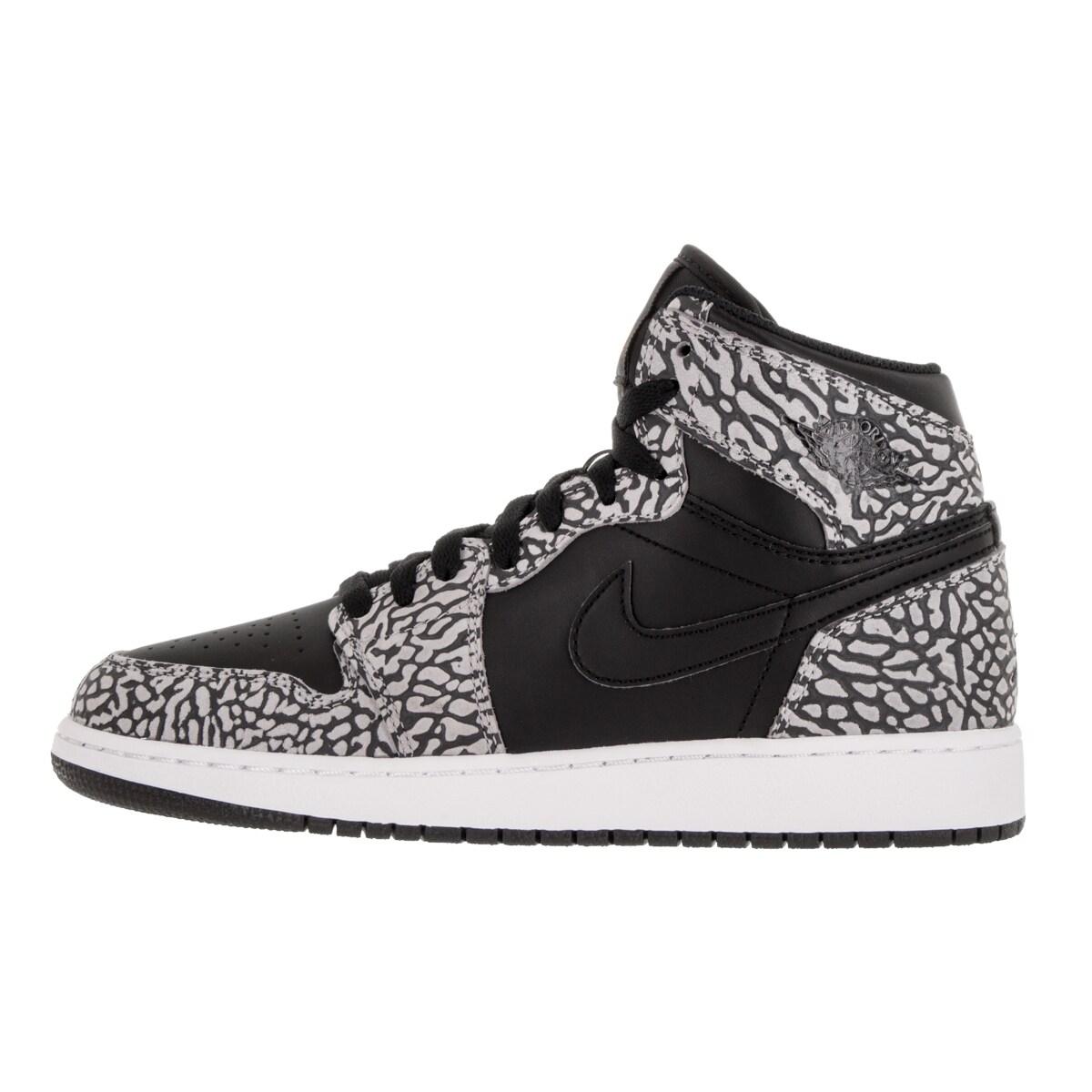 outlet store 145b4 a812d Shop Nike Jordan Kids Air Jordan 1 Retro Hi Prem Bg Black Gym Red CMint   Anthracite Basketball Shoe - Free Shipping Today - Overstock - 12346733