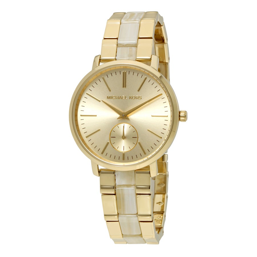 0a74f63ce22b Shop Michael Kors Women s MK3510  Jaryn  Two-Tone Stainless steel and  Acetate Watch - Free Shipping Today - Overstock - 12346886