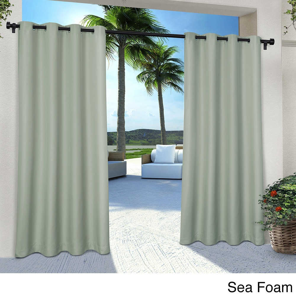 Exclusive Home Indoor/ Outdoor Solid Cabana Grommet Top Curtain Panel Pair  - Free Shipping On Orders Over $45 - Overstock.com - 19177535