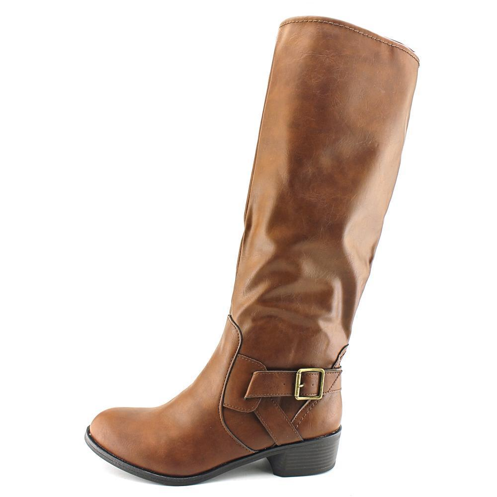 24fffad3f28 Shop Arizona Jean Company Women s  Dylan  Brown Faux Leather Boots - Free  Shipping On Orders Over  45 - Overstock - 12350217