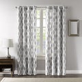 Madison Park Ivy Woven Metallic Ikat Curtain Panel