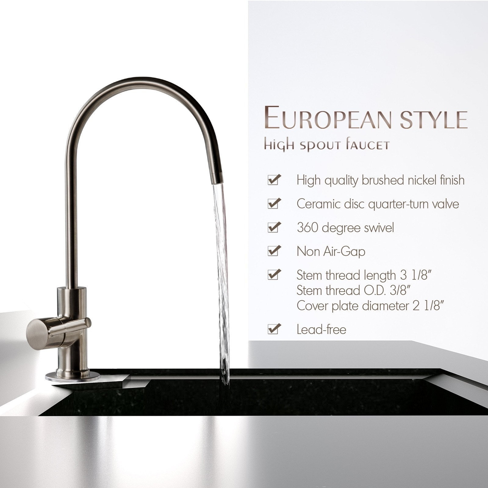 filter gap water premium osmosis non air ro faucet reverse faucets universal chrome plated