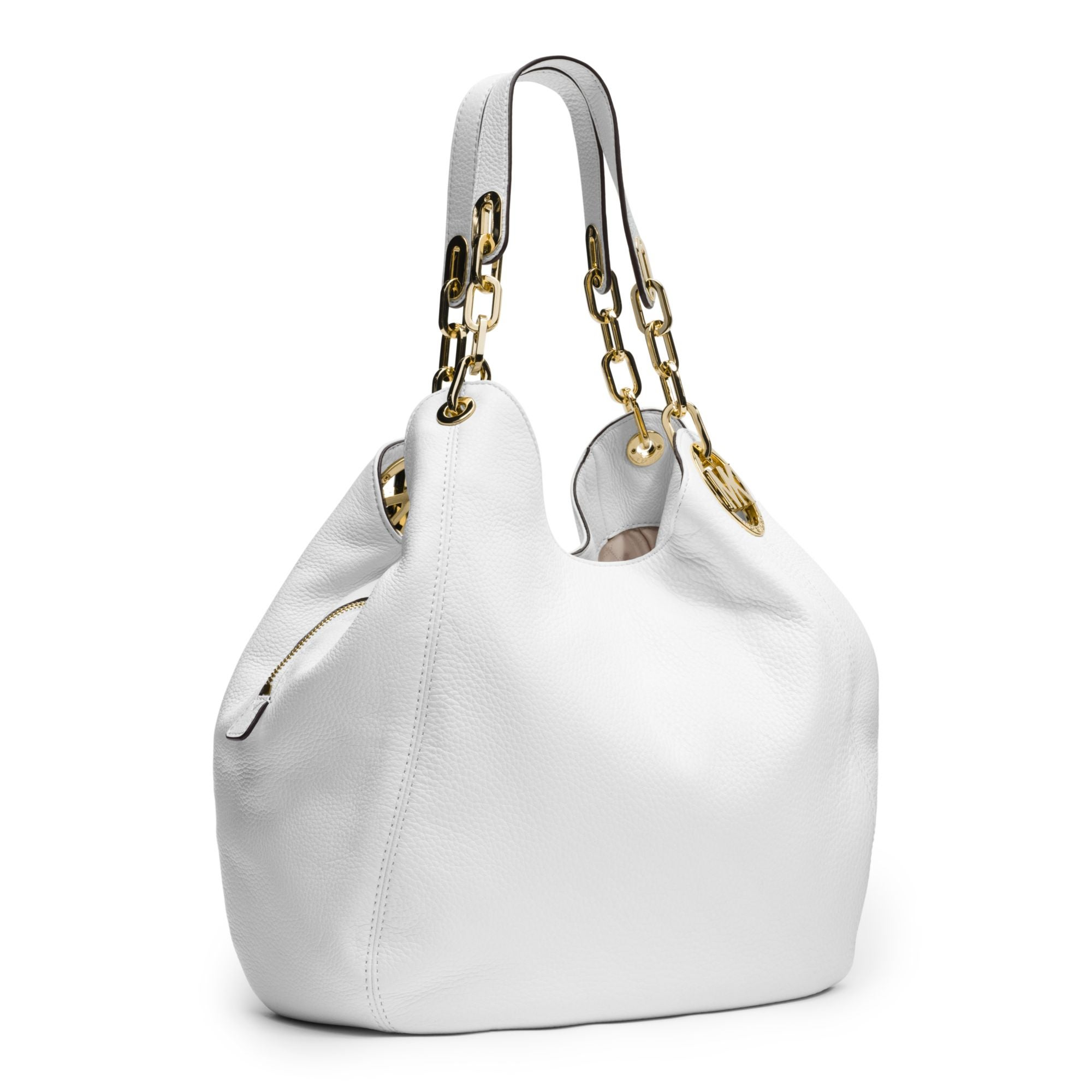 67d60a6482 Shop Michael Kors Fulton Optic White Large Shoulder Tote Bag - Free  Shipping Today - Overstock - 12352919