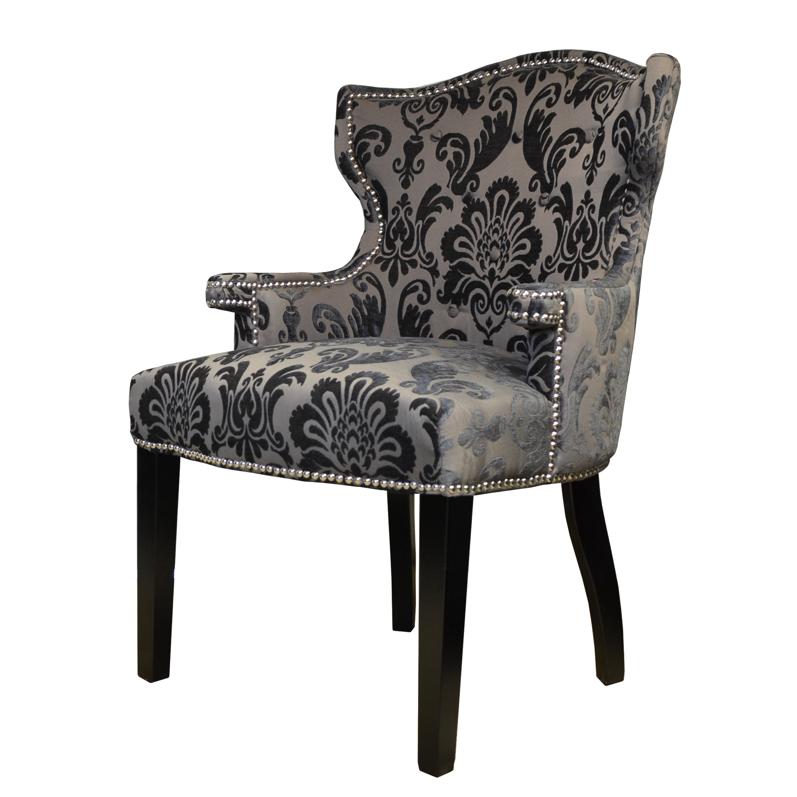 Merveilleux Shop Brittania Chair Brown Gray Damask Armchair   Free Shipping Today    Overstock.com   12355389