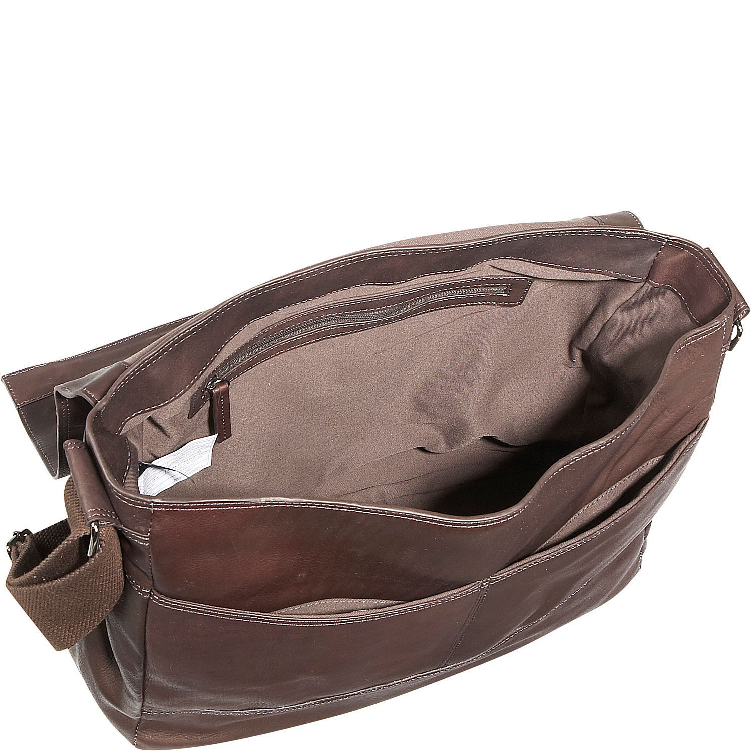 Messenger Bag Colombian Leather Flapover