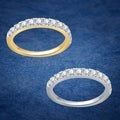 Divina 10k Yellow Gold 1/2ct TDW Diamond Wedding Band