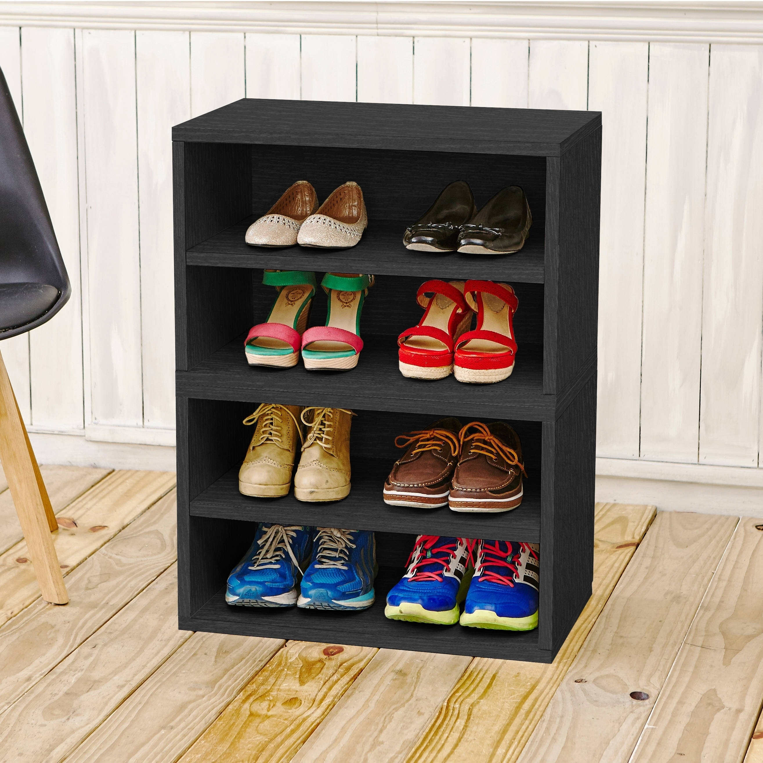 Shop Modular Storage System Shoe Rack Bookcase Shelving By Way Basics  LIFETIME GUARANTEE   On Sale   Free Shipping Today   Overstock.com    12357789