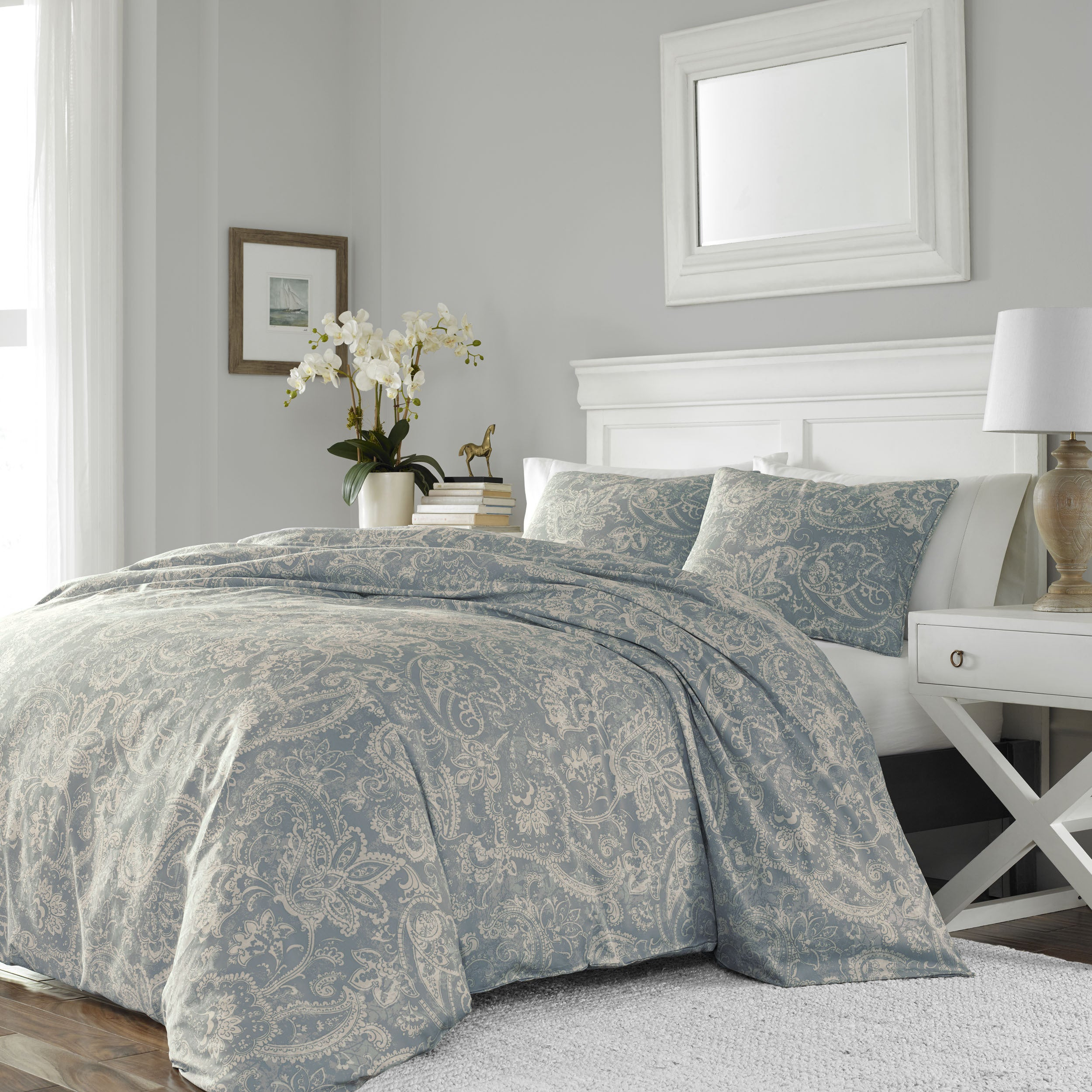 Stone Cottage Isla Cotton Sateen Duvet Cover Set  Free