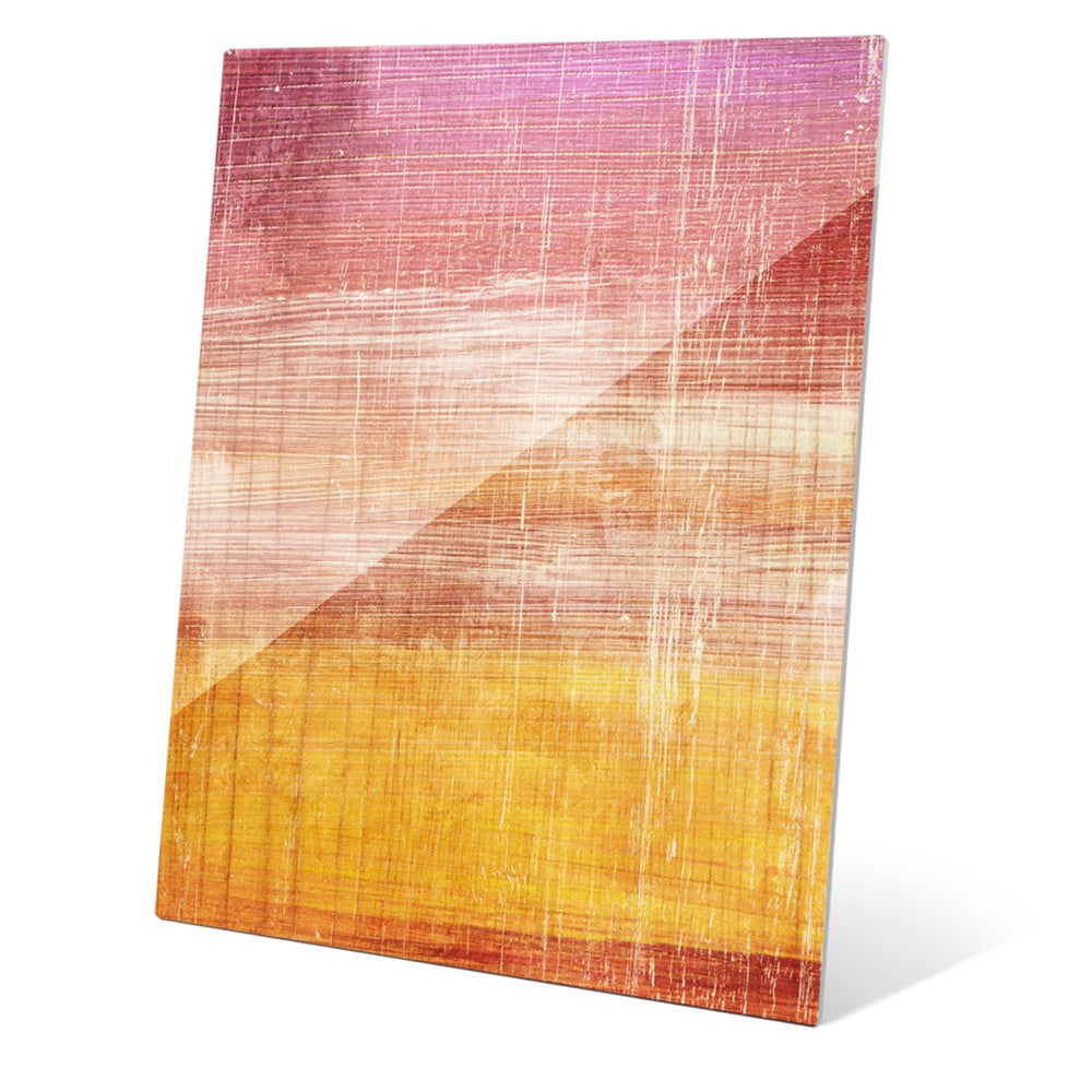 Shop Woos Spectrum Dusk Wall Art on Glass - Free Shipping Today ...