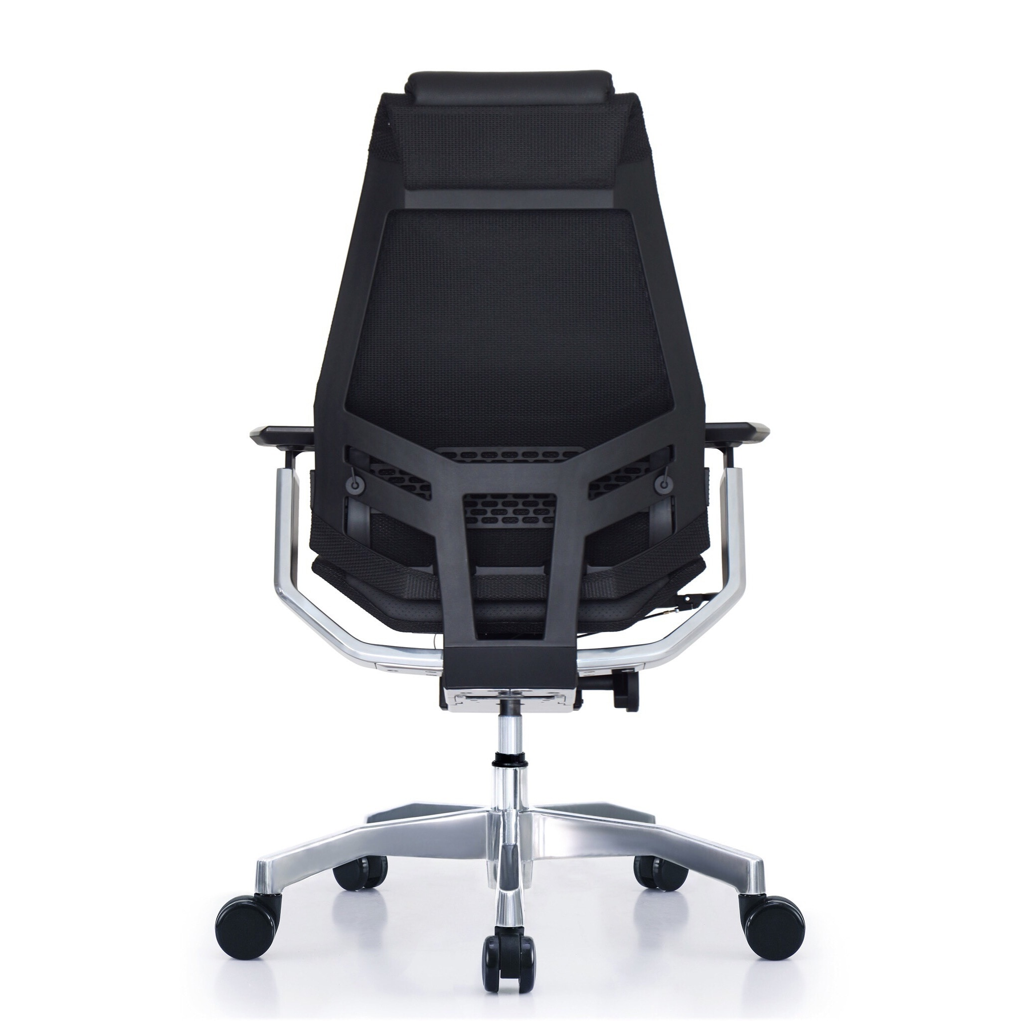 office chair genuine leather white. GM Seating Bodylux Black Genuine Leather Smart Seat Swivel Exectutive Chair With Chrome Base And Headrest - Free Shipping Today Overstock 19185753 Office White W