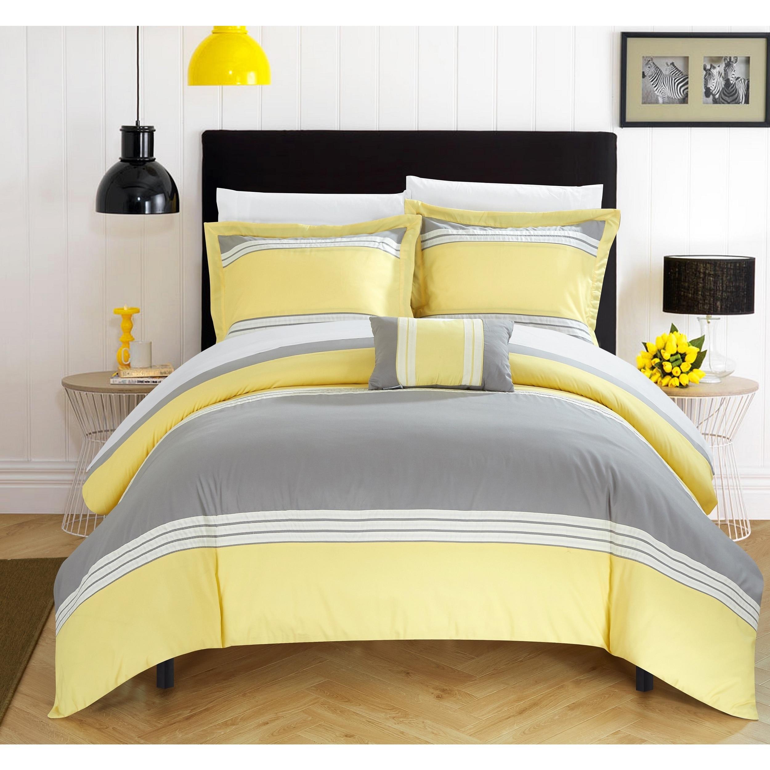 set ebay quilt yellow double cover flutter duvet itm