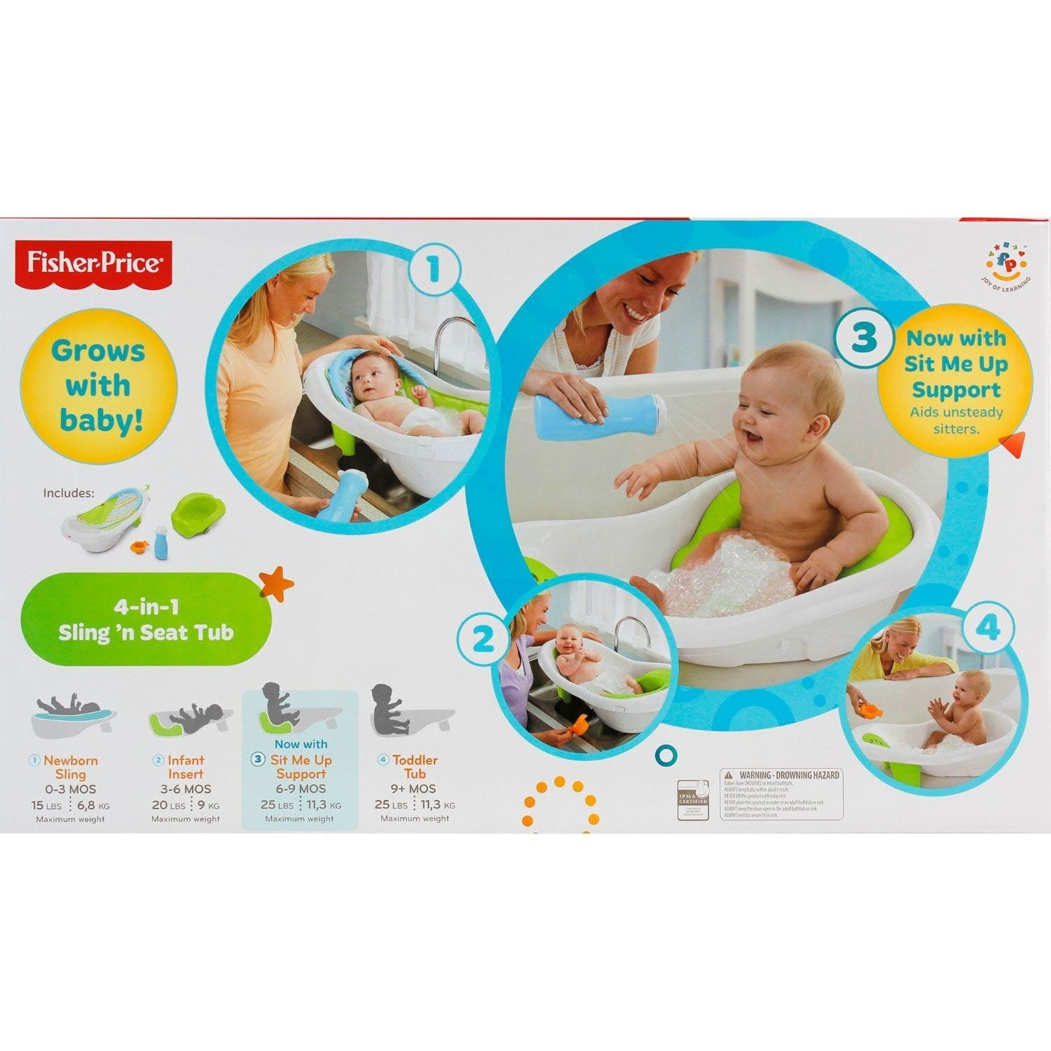 e208fad3705 Shop Fisher-Price 4-in-1 Sling  n Seat Tub - Free Shipping On Orders Over   45 - Overstock - 12360578