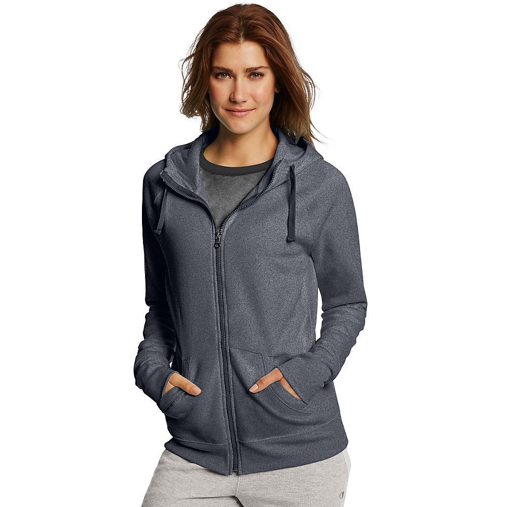 e25618bf571 Shop Champion Women s Fleece Full Zip Hoodie - Free Shipping Today ...