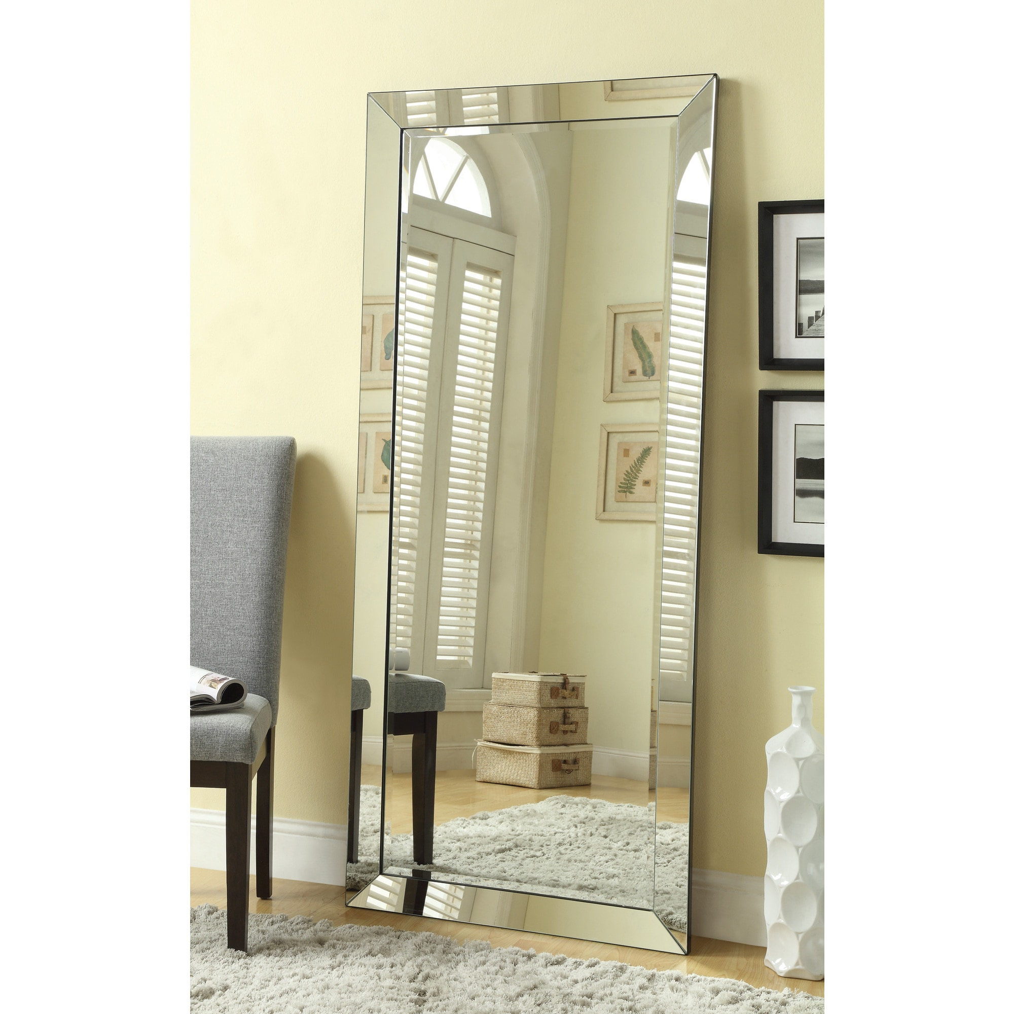Shop Large Standing Wall Mirror With Mirror Frame Free Shipping