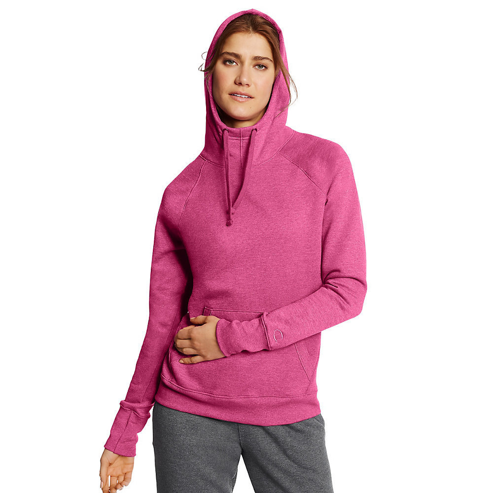 a3afbccb72a Shop Champion Women s Fleece Pullover Hoodie - Free Shipping On Orders Over   45 - Overstock - 12361345