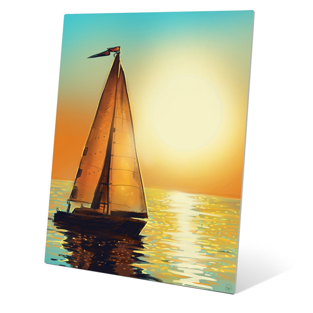 Colorful Sailboat Metal Wall Art Photo - All About Wallart ...