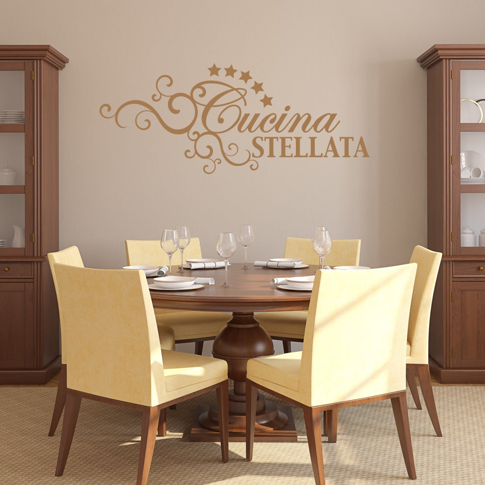 Shop Cucina Stellata Quotes and Sayings Wall Decal Sticker Mural ...