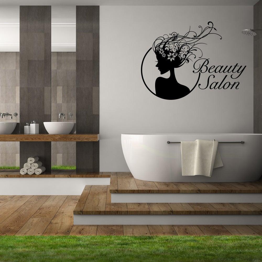 Shop Beauty Salon Black Vinyl Wall Decor On Sale Free Shipping