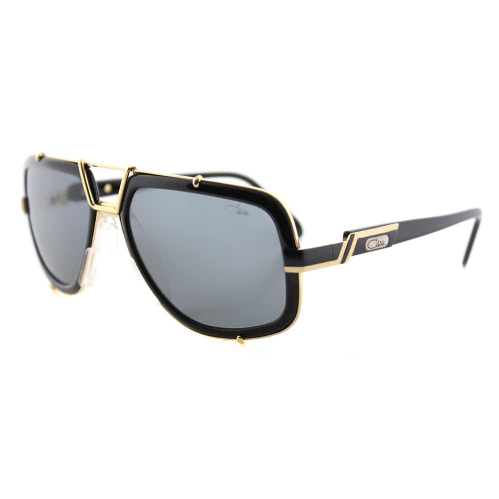 4007660d6de4 Cazal Cazal 656 001SG Legends Vintage Black And Gold Plastic Aviator Grey  Lens Sunglasses