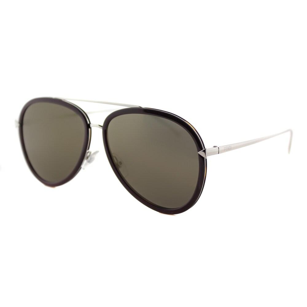 1ca94663bbec Shop Fendi FF 0155 V52 Funky Angle Violet Palladium Metal Aviator Gold  Mirror Lens Sunglasses - Ships To Canada - - 12362143