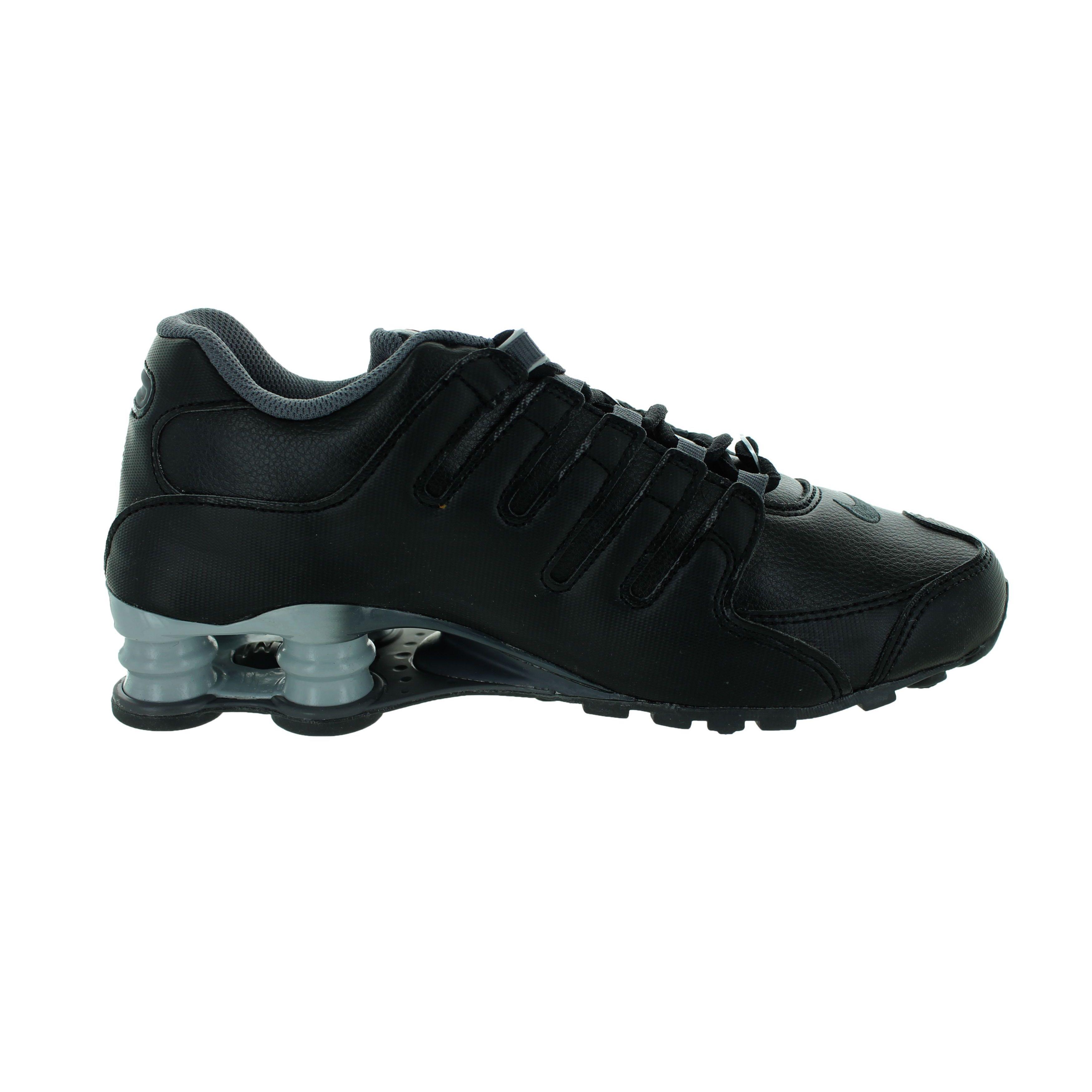 Shop Nike Women s Shox NZ EU Black Leather Running Shoes - Free Shipping  Today - Overstock - 12362319 5349665f9