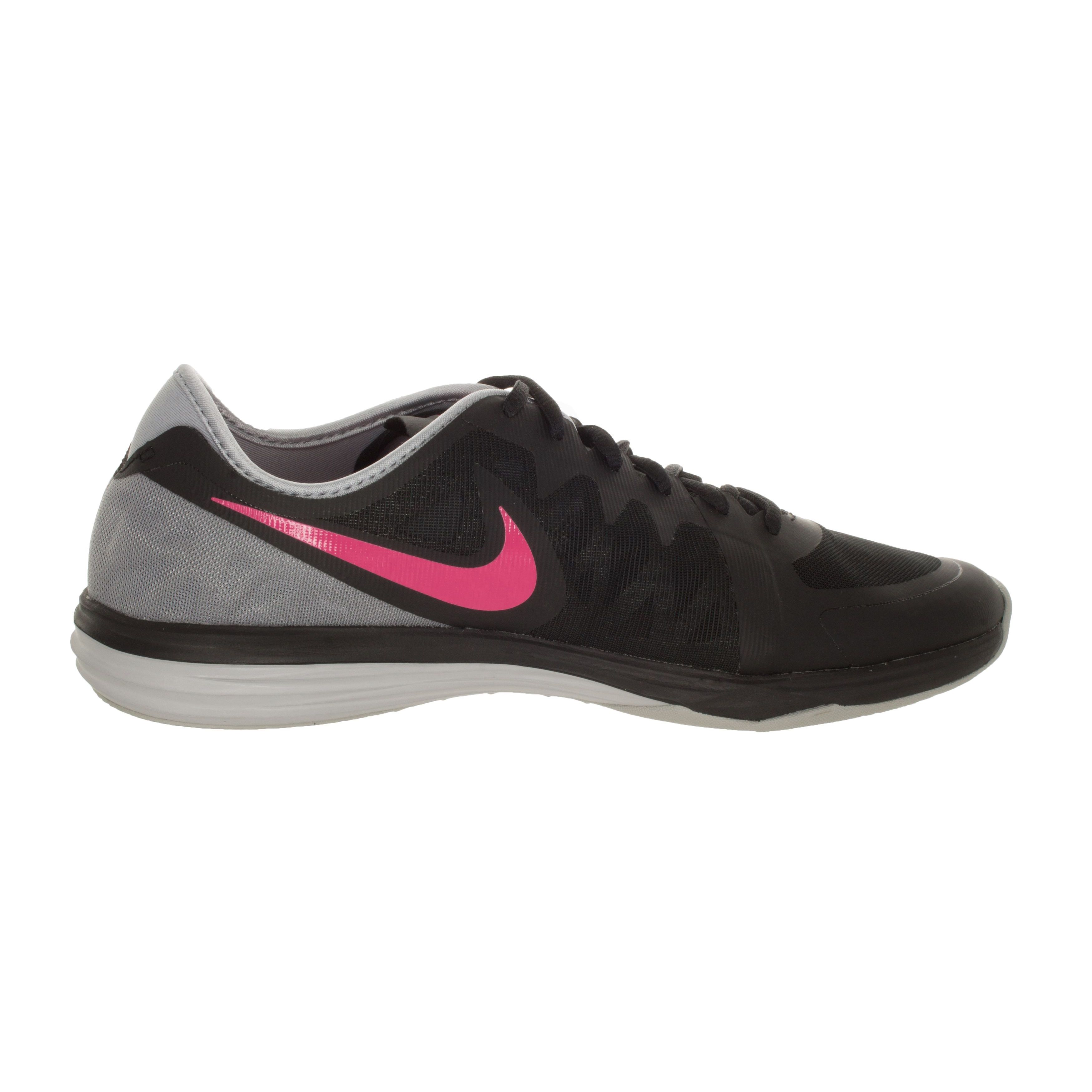 wholesale dealer ba8d1 0c64d Shop Nike Women s Dual Fusion Tr 3 Black Pink Pow Wolf Grey Training Shoe -  Free Shipping Today - Overstock - 12362350