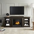 Real Flame Frederick Grey 72 in. L x 15.5 in. D x 30.1 in. H Overstock Exclusive Gel Fuel Fireplace Entertainment Center