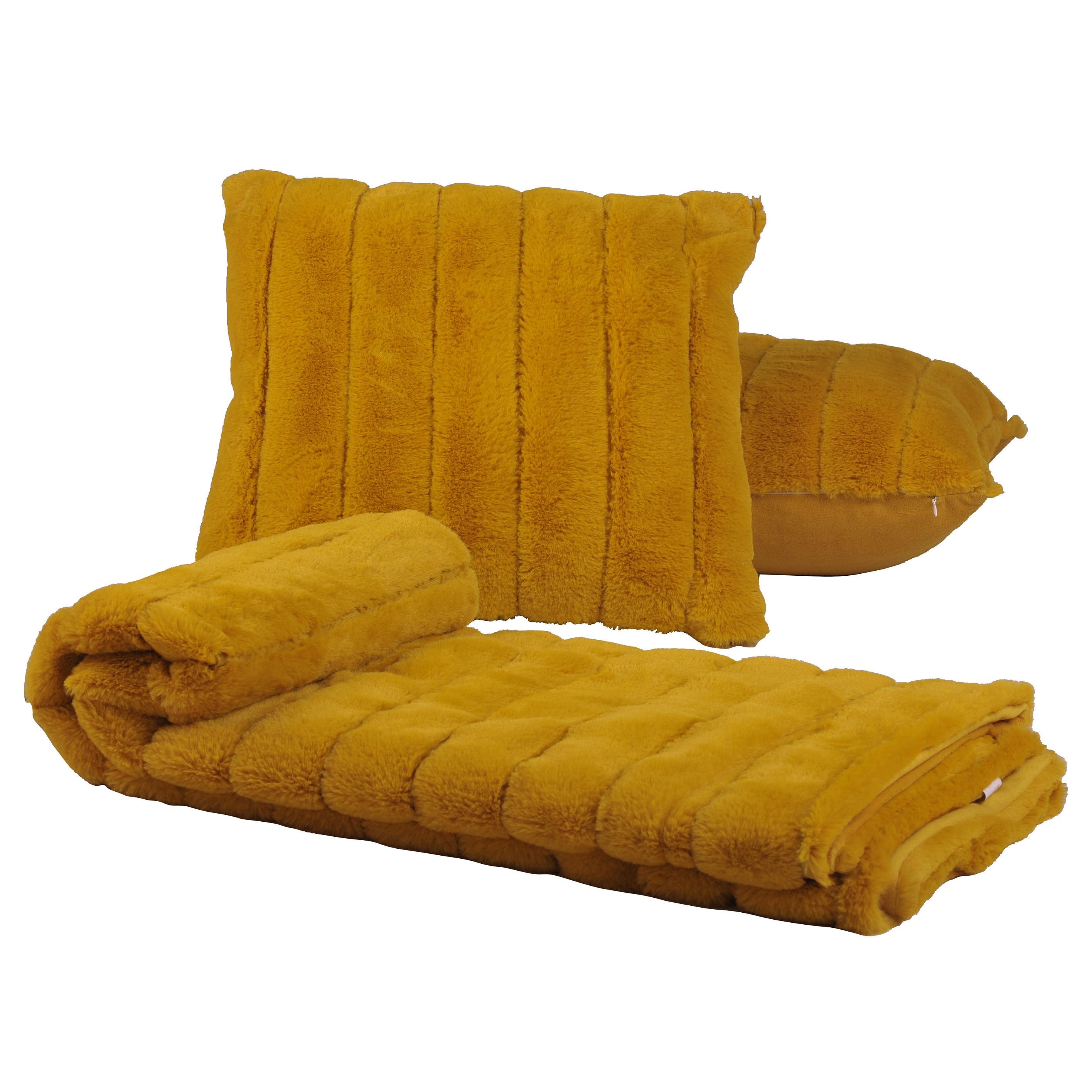 Shop BOON Rabbit Faux Fur Throw & 2 Pillow Combo Set, 50\