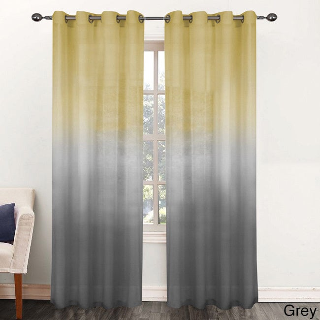 Shop Rainbow Ombre 84 Inch Sheer Curtain Panel