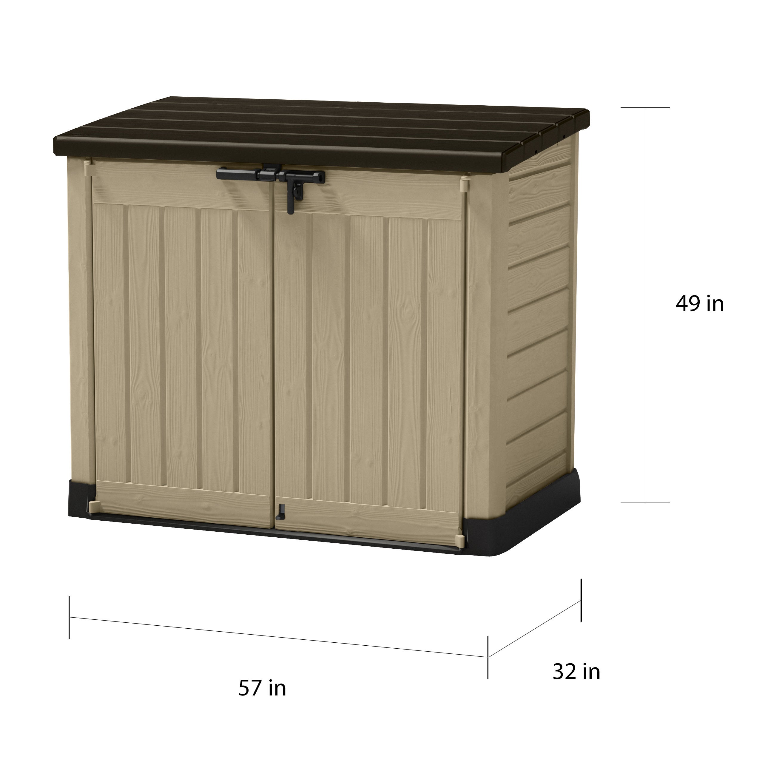 lovely in storage with slide horizontal sheds shed large lid rubbermaid