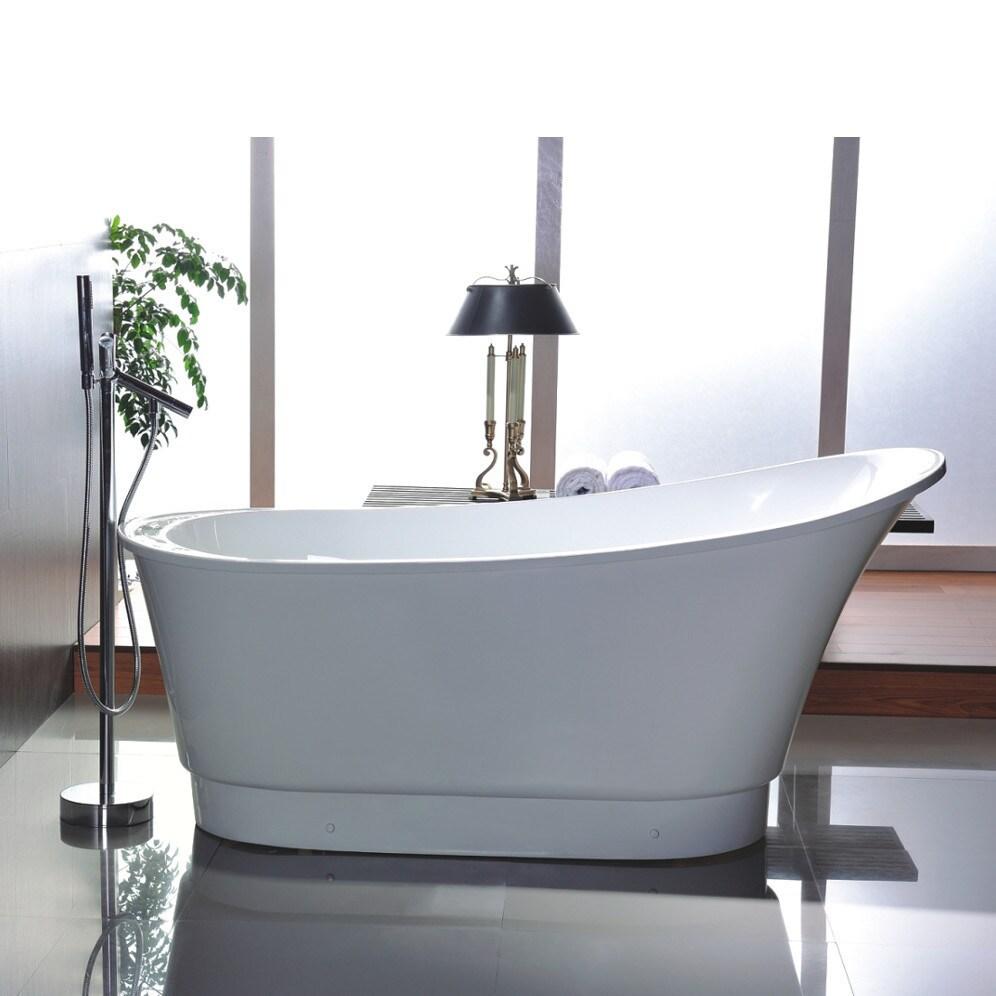Vanity Art 67-inch Acrylic Freestanding Soaking Bathtub - Free ...