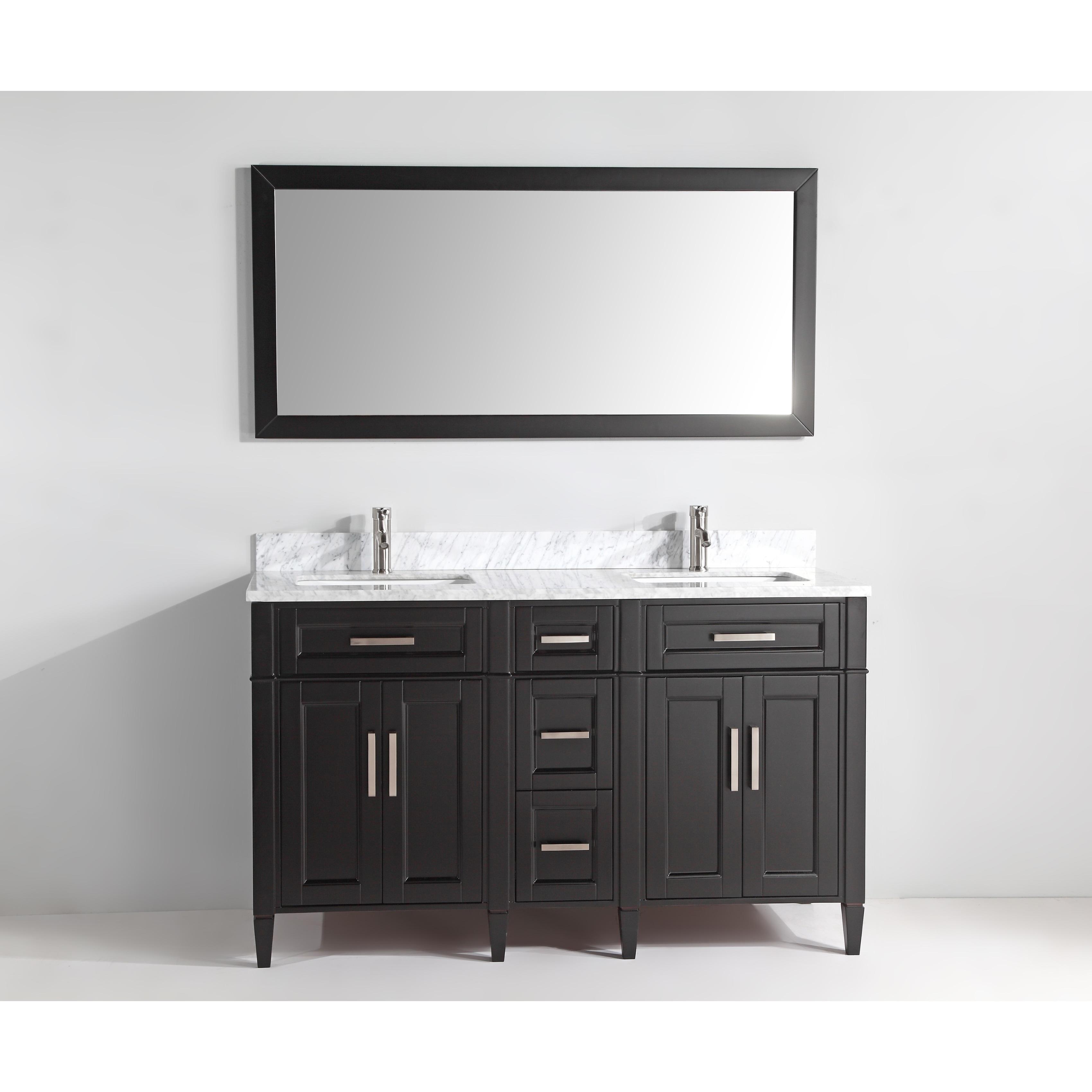 Shop Vanity Art 60 Inch Bathroom Vanity Set With Carrara Marble Top
