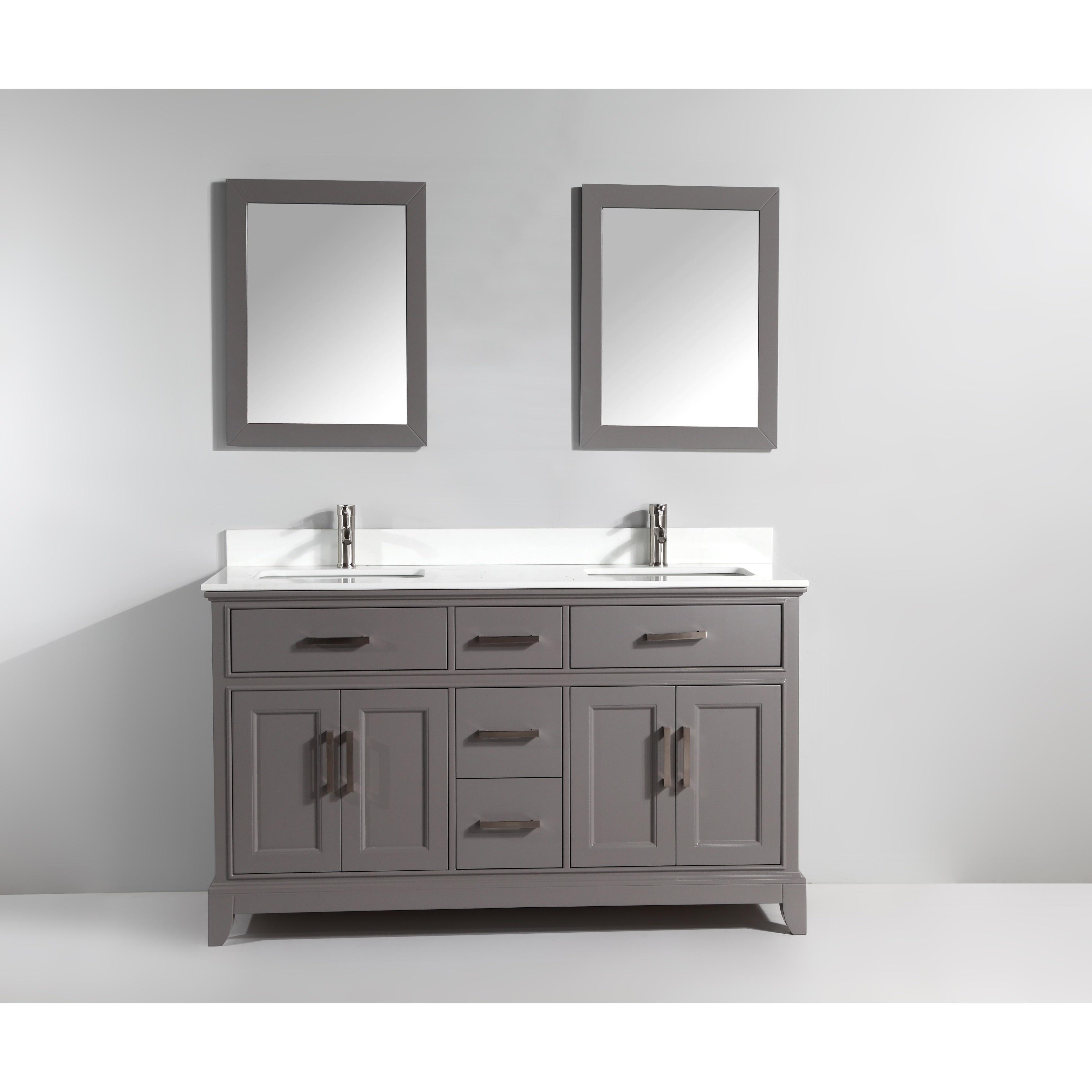 Vanity Art 72-inch Double Sink Bathroom Vanity Set with Phoenix ...