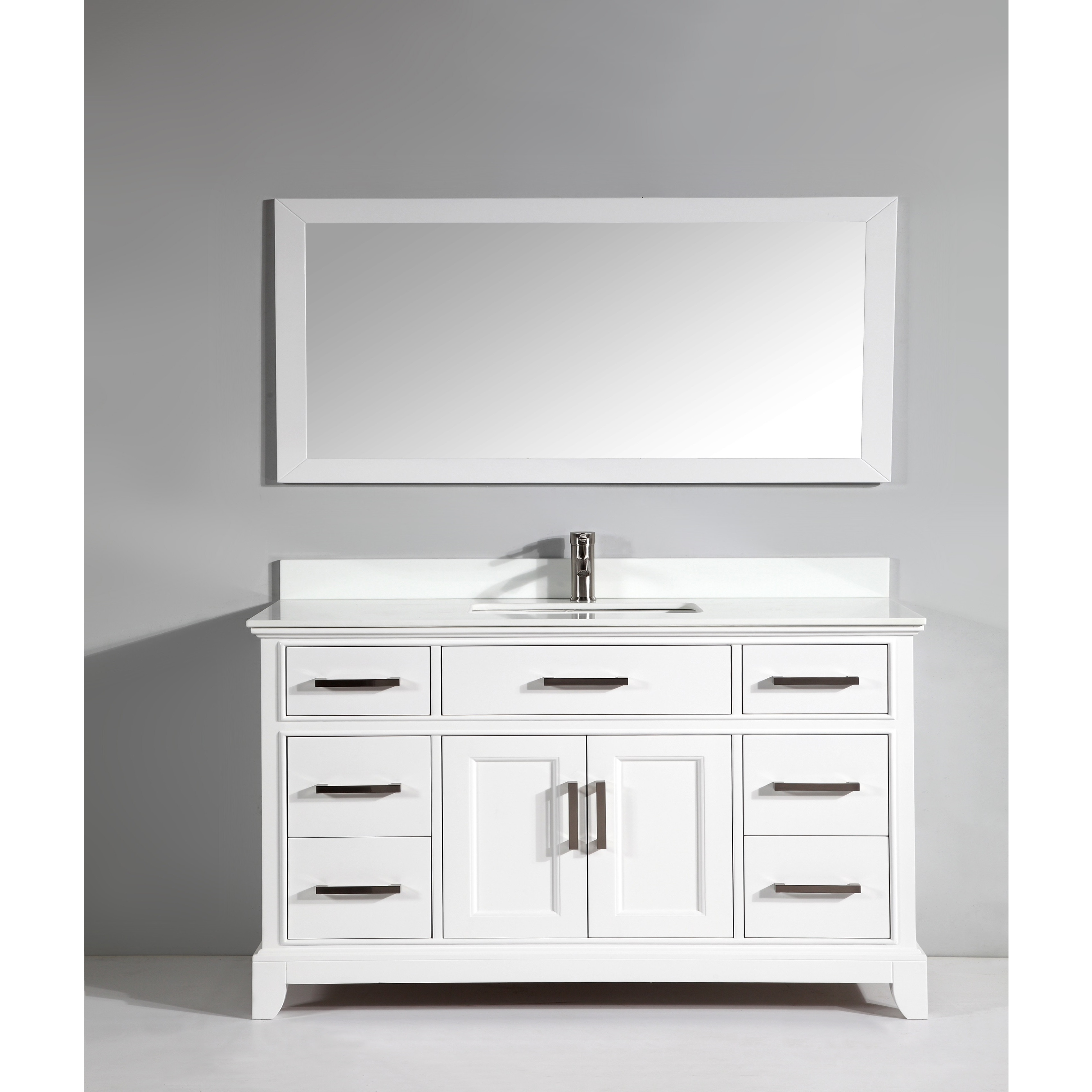 Shop Vanity Art 60-inch Bathroom Vanity Set with Phoenix Stone Top ...