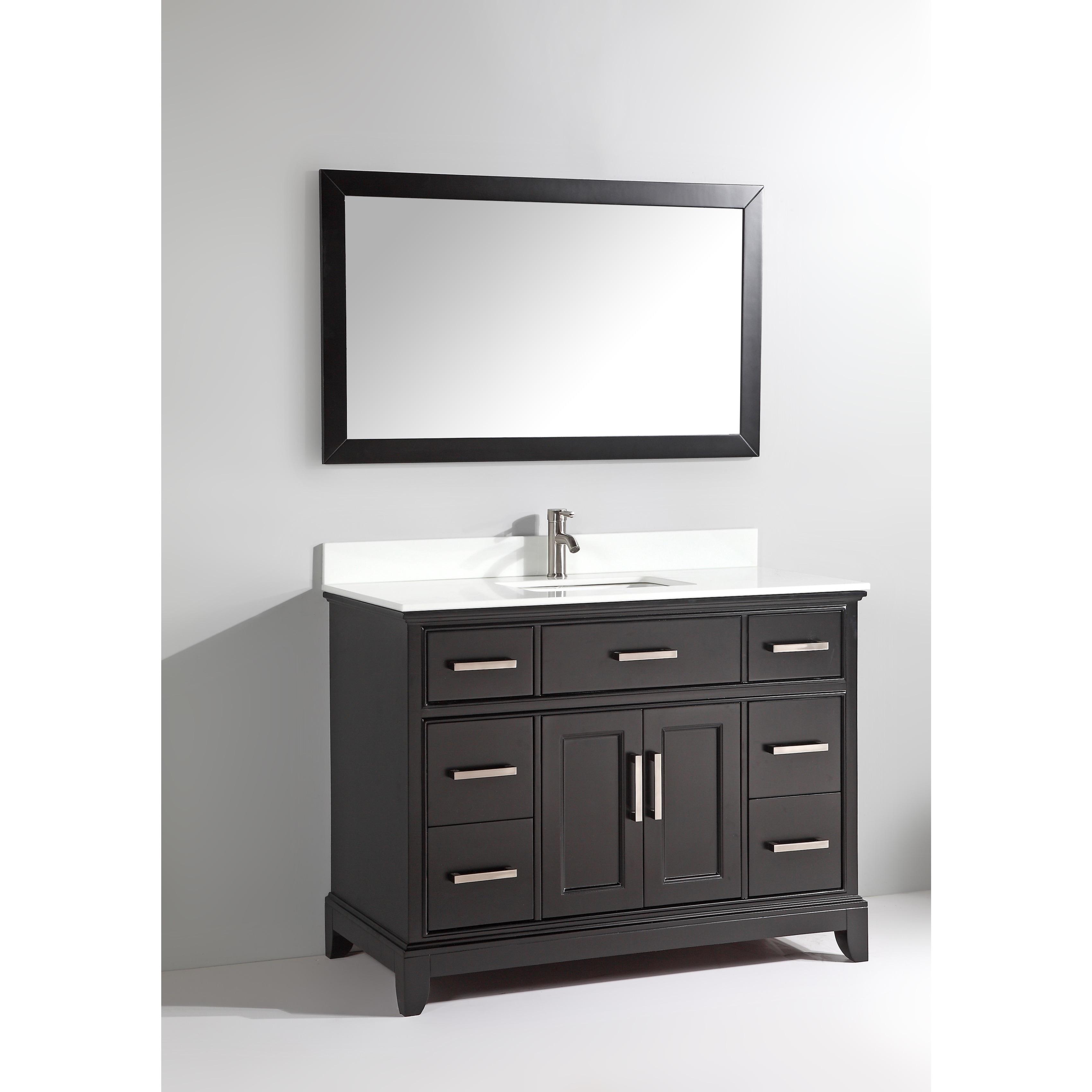 Shop Vanity Art Phoenix Stone Top 48-inch Bathroom Vanity Set With ...