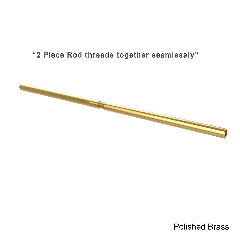 Shop Allied Brass 60 Inch Shower Curtain Rod