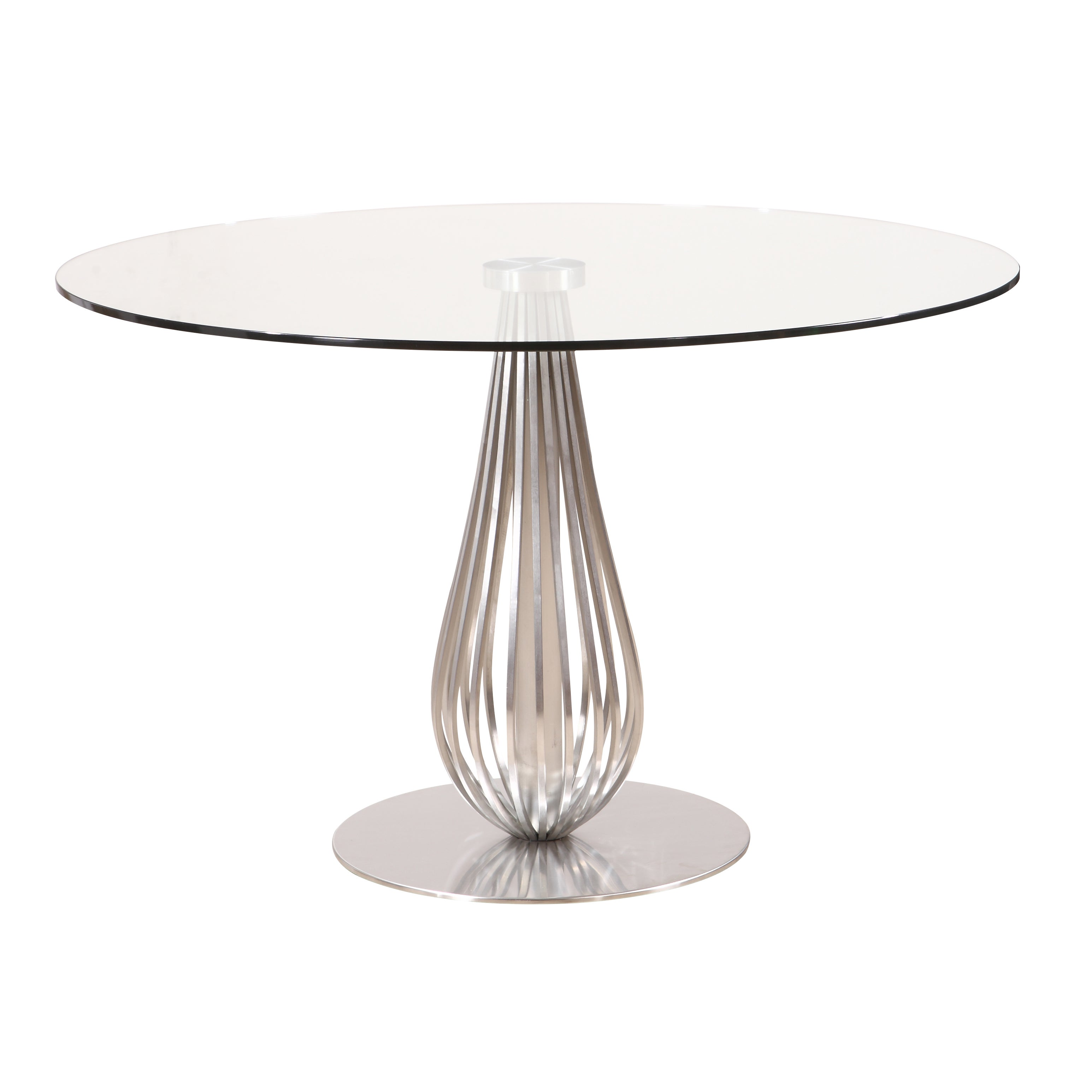 glass round dining table. Toscana Glass Round Dining Table - Free Shipping Today Overstock 19192078 S