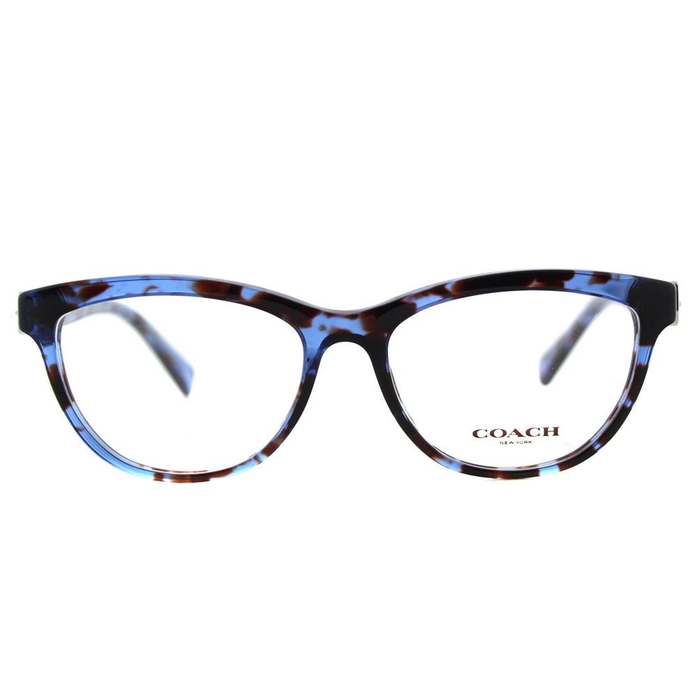 6bf466fe230 Shop Coach HC 6087 5392 Blue Tortoise Plastic Cat-Eye Eyeglasses - On Sale  - Free Shipping Today - Overstock - 12369763