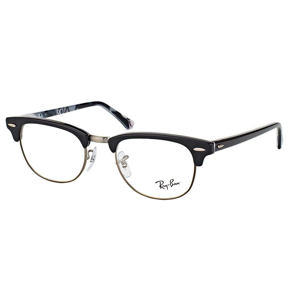 21fea7f69f Ray-ban RX 5154 5649 Clubmaster Black Logo Plastic 51-millimeter Eyeglasses