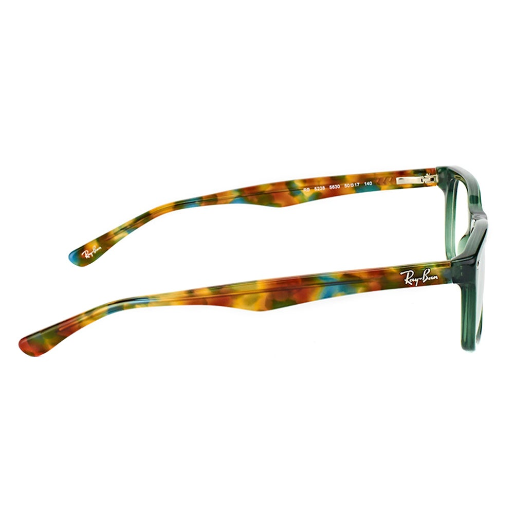42c2aabdc8e Shop Ray-Ban RX 5228 5630 Green Plastic Rectangle Eyeglasses - On Sale -  Free Shipping Today - Overstock - 12369930