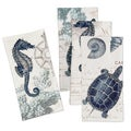 Laural Home Vintage Seaside Maritime Napkins (Pack of 4)