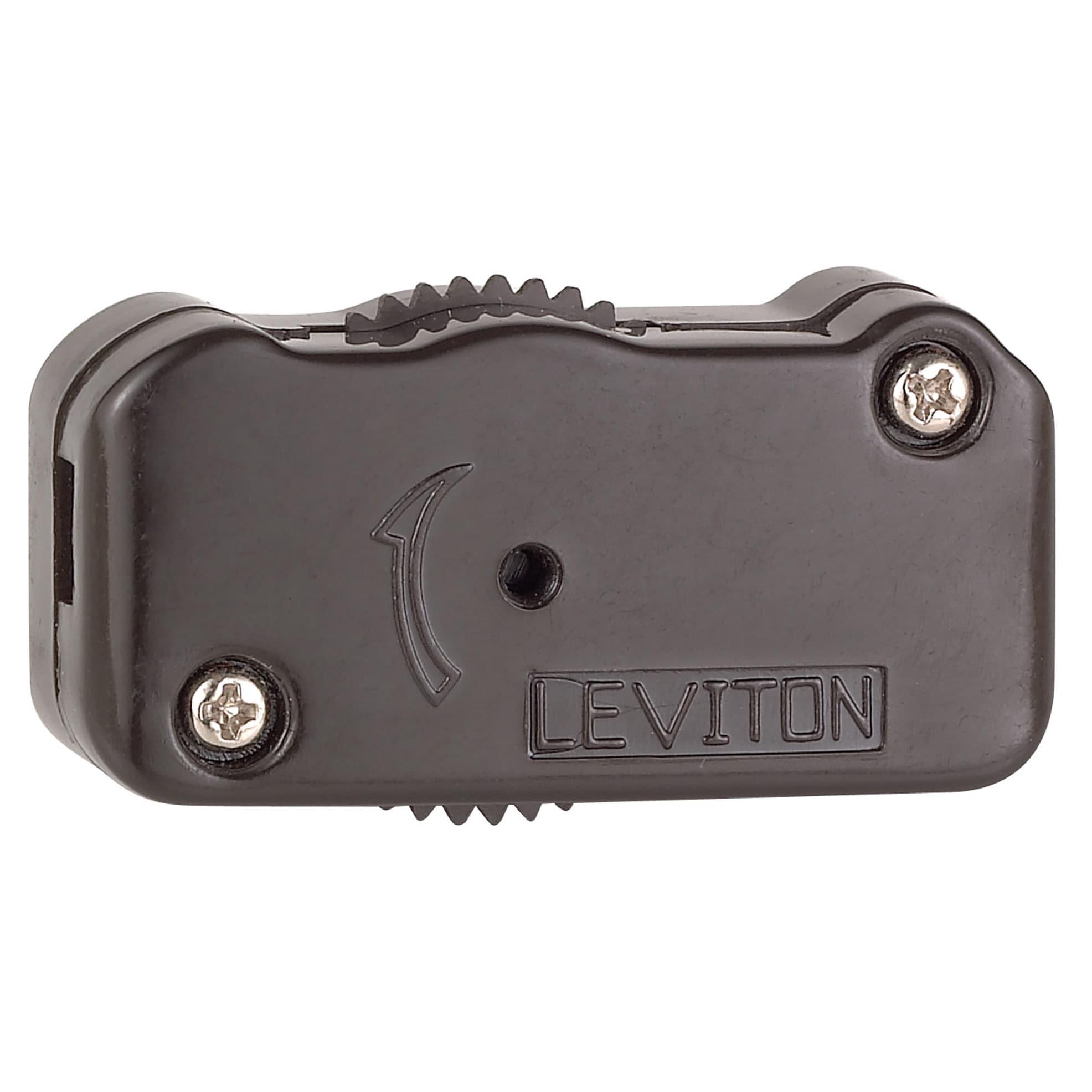Shop Leviton C20-01420-000 Brown 200 Watt 3-Way Cord Switch - Free ...