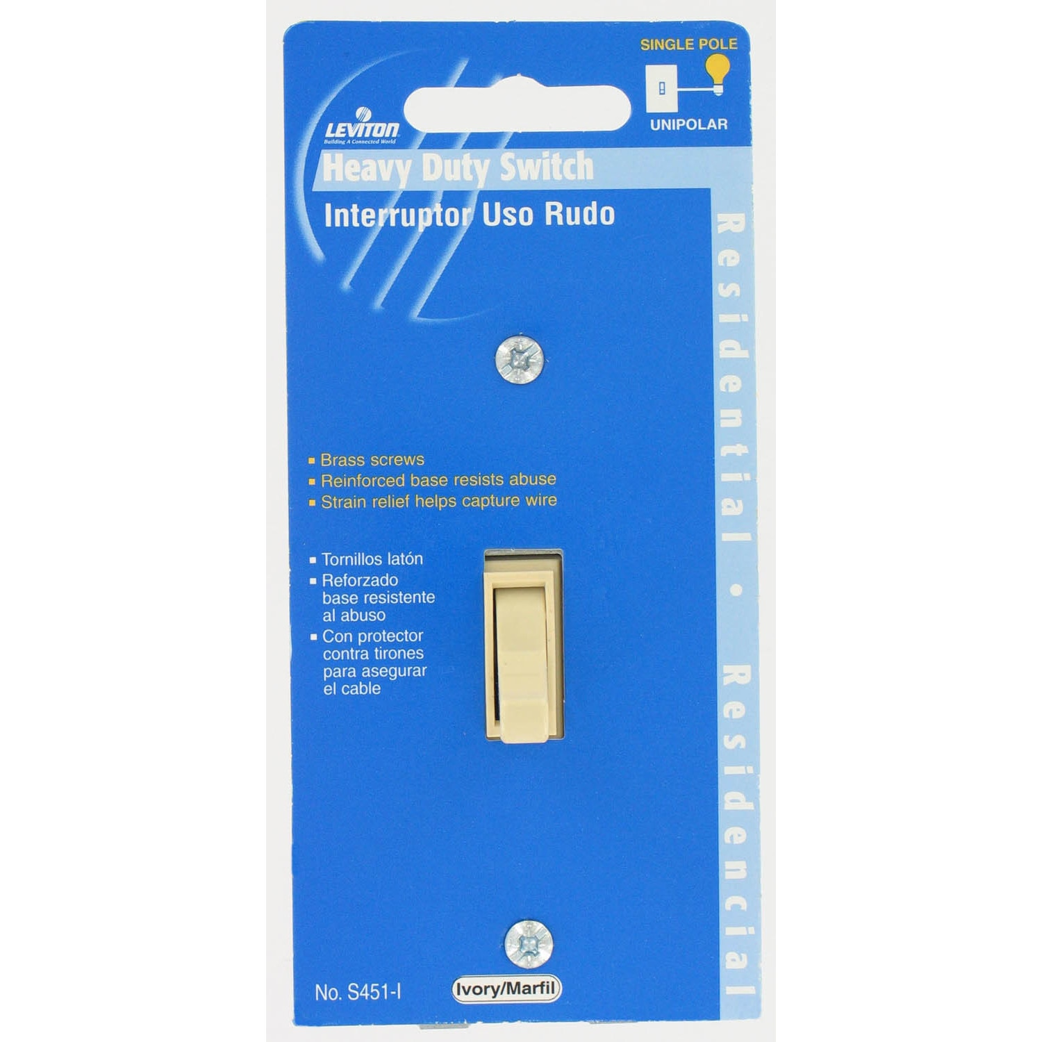 Shop Leviton C23 0s451 I Ivory Residential Grade Ac Quiet Switch Single Pole Toggle Free Shipping On Orders Over 45 12370743