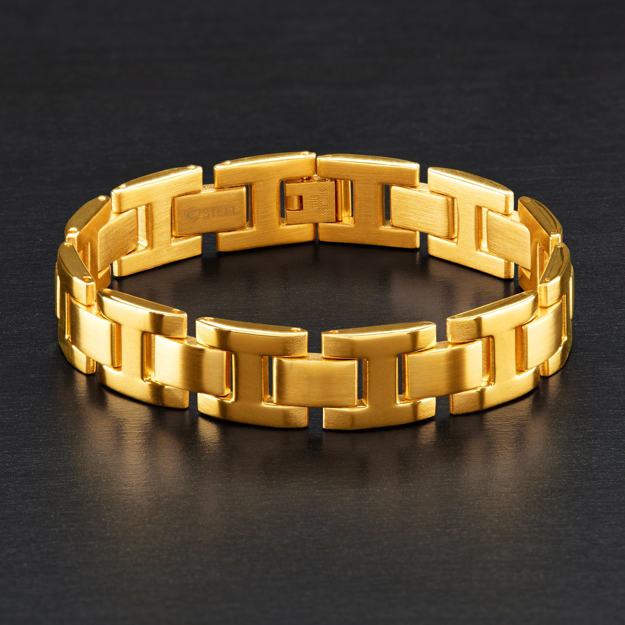 tapered metallic in cuff product ben gold jewelry amun gallery lyst bracelet wide