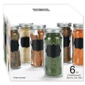 Euro-Ware Glass Chalkboard Spice Jar Set (Pack of 6)