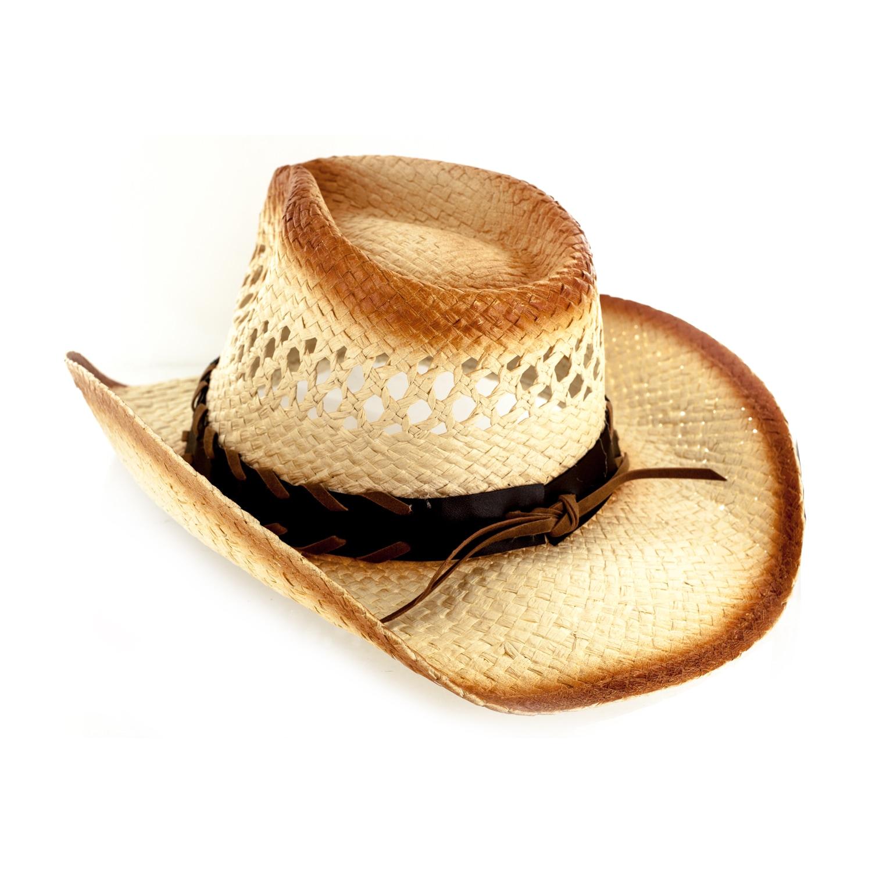 016232e3379dd Shop Faddism Tan Cotton Polyester Straw Custom Made Cowboy Hat With